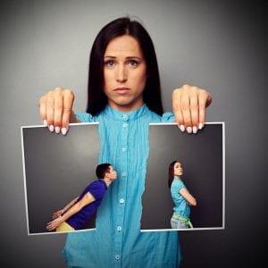 sad woman broking off relationship